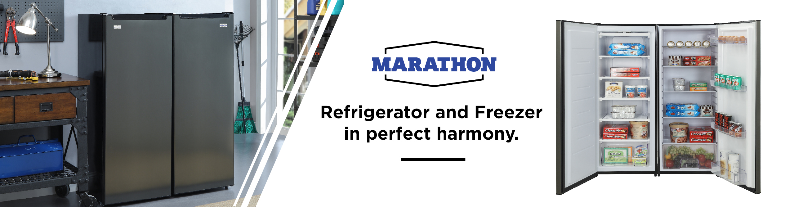 Refrigerator and Freezer in perfect harmony